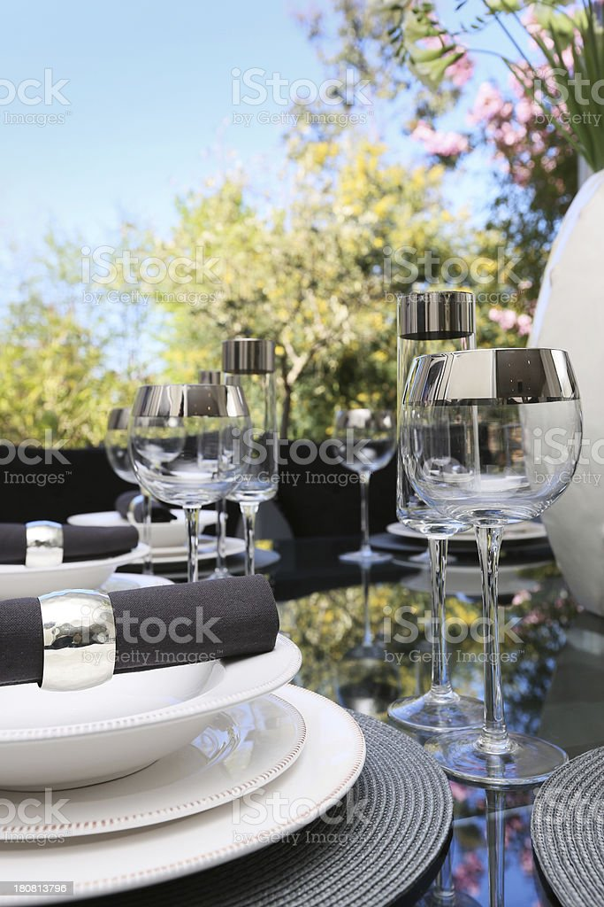 Dining outside. stock photo
