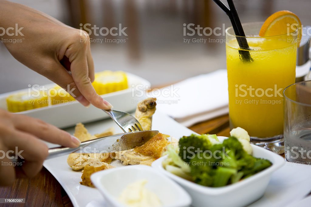 Dining royalty-free stock photo