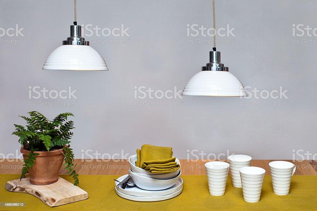 Dining place interior stock photo