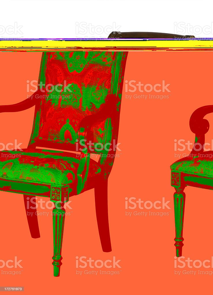 Dining Room Arm Chair royalty-free stock photo