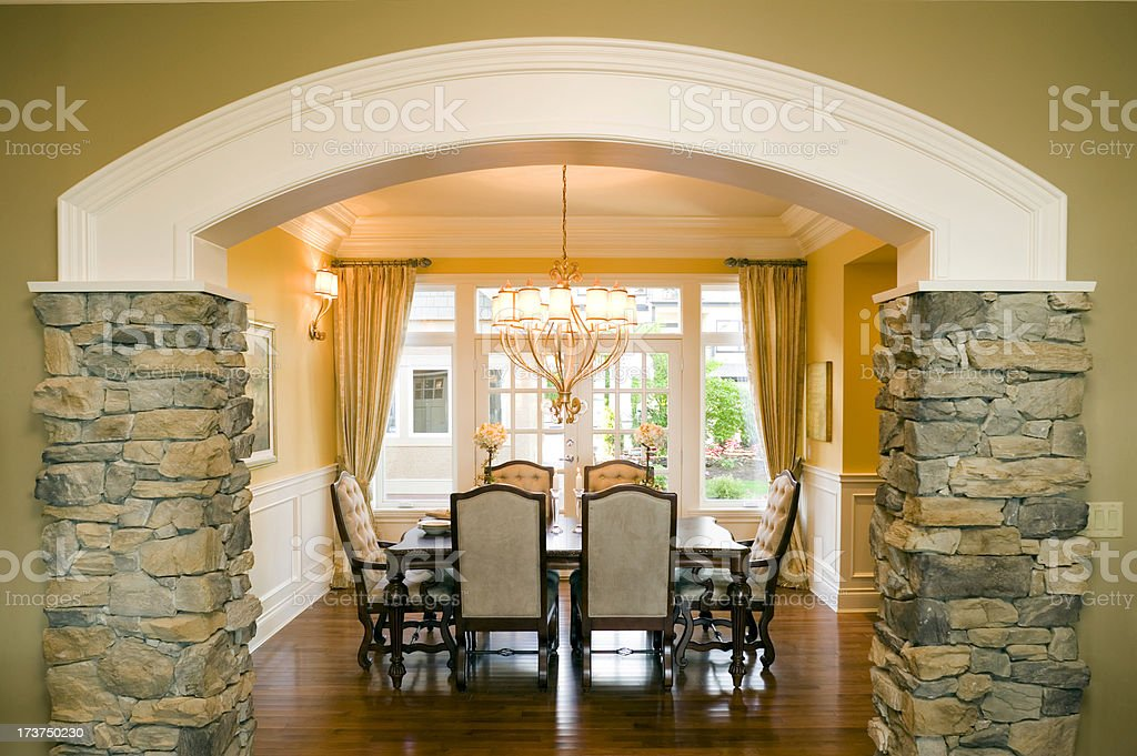 dining room chairs arch royalty-free stock photo