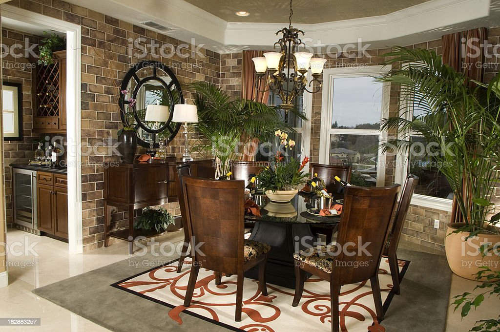 Dining Room Design Interior Home royalty-free stock photo