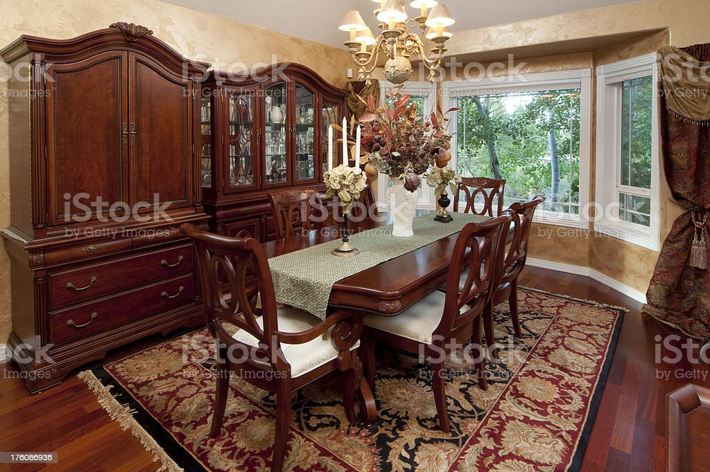 Dining Room, formal royalty-free stock photo