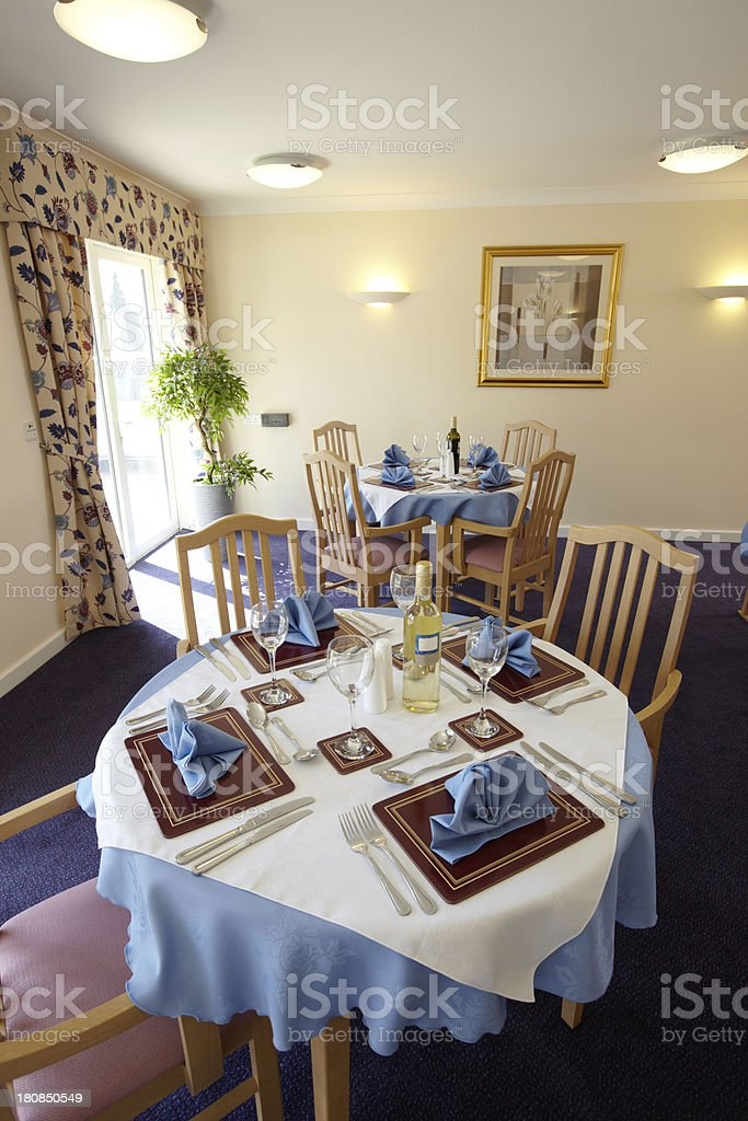 Dining Room In Care Home Royalty Free Stock Photo