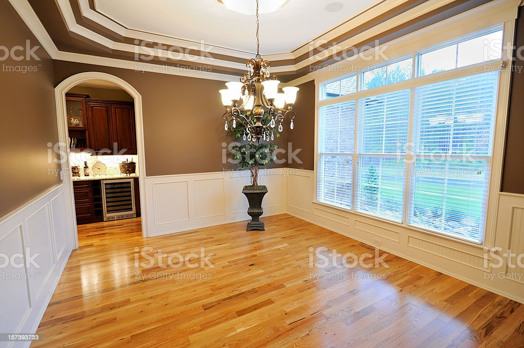 Dining Room in home interior royalty-free stock photo