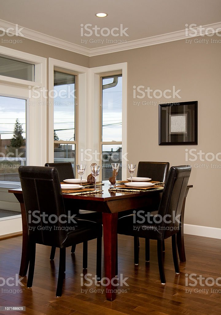 Dining Room in New Home stock photo