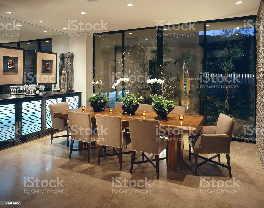 Dining room Interior Home Design royalty-free stock photo