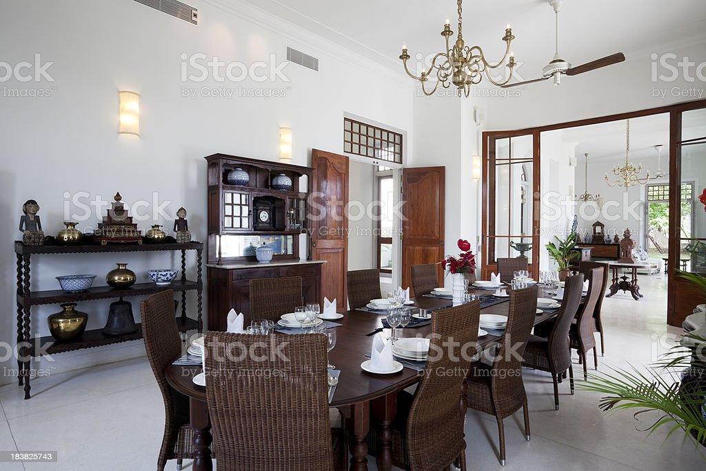 dining room in luxury villa