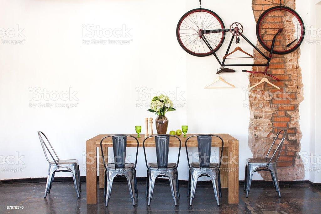 Dining room stock photo