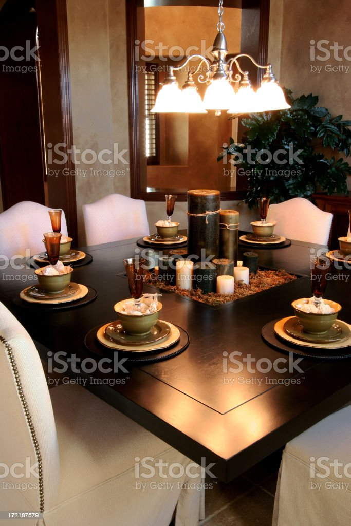Dining Room Table royalty-free stock photo