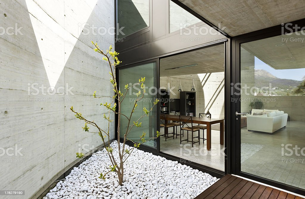 dining room view from the veranda royalty-free stock photo