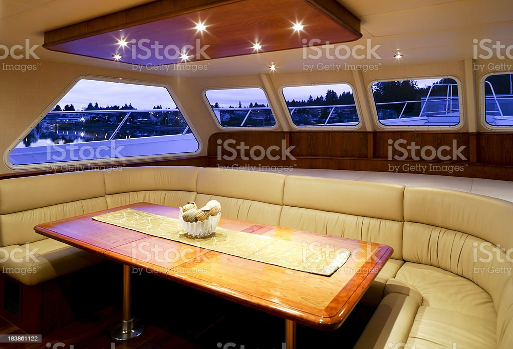 dining room yacht interior royalty-free stock photo