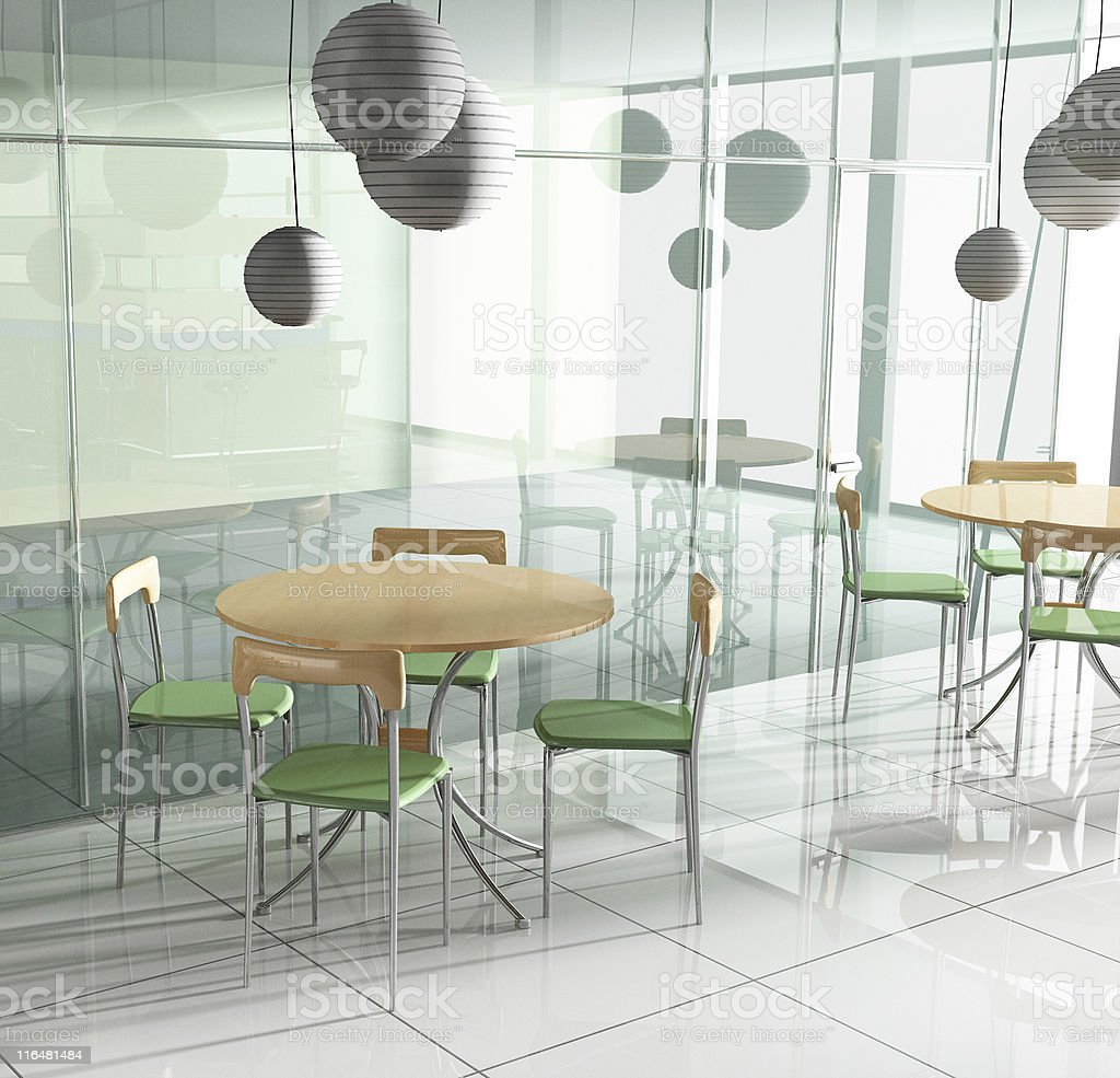 dining table in cafe royalty-free stock photo