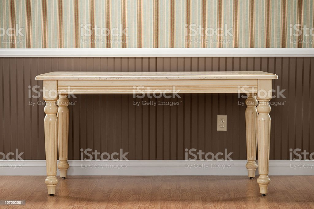 Dining Table In Empty Room royalty-free stock photo