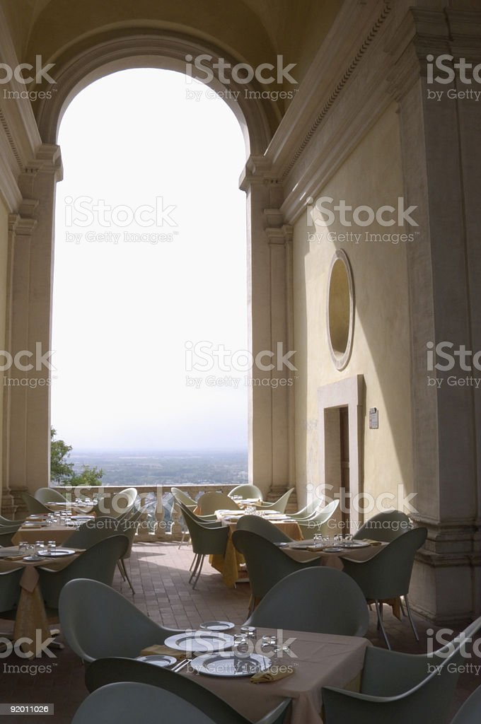 Dining tables royalty-free stock photo