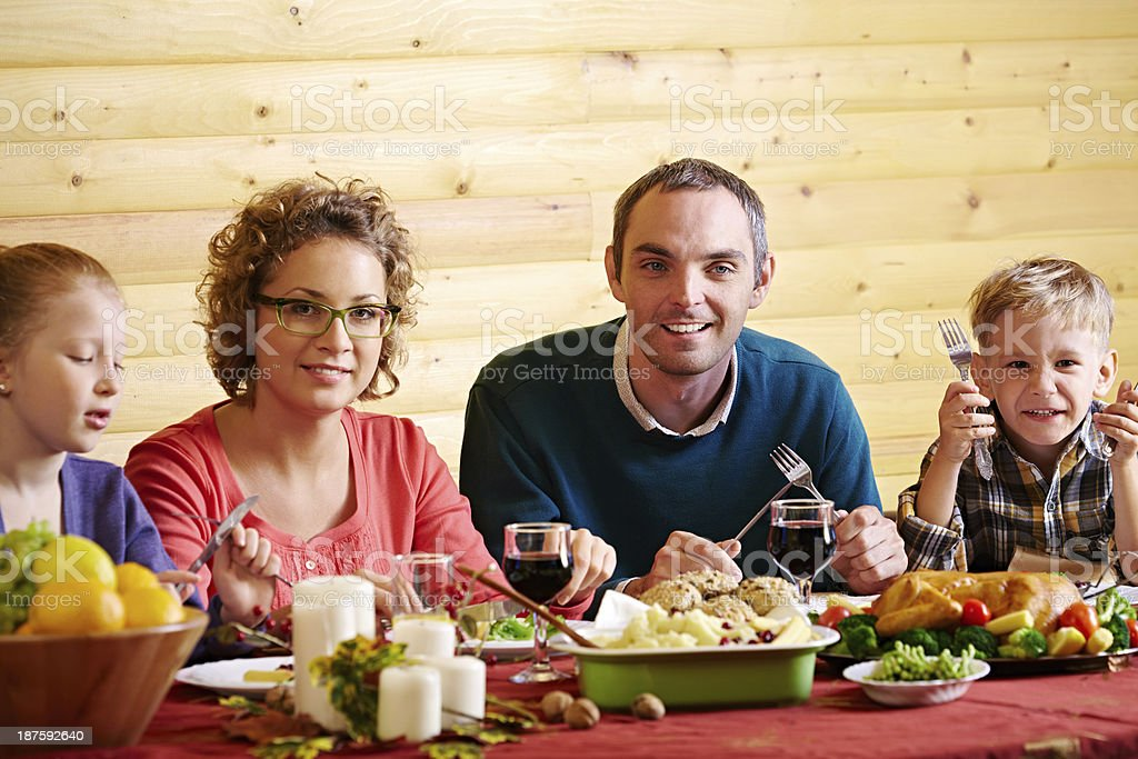 Dining together royalty-free stock photo