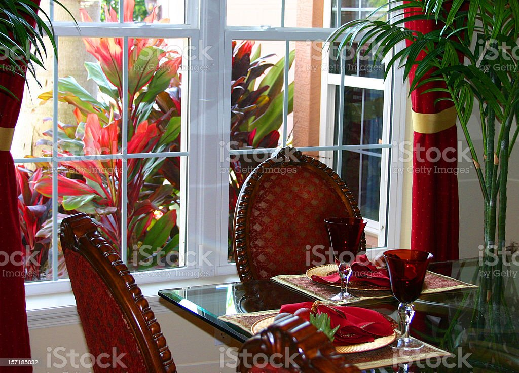 Dining with a Garden View royalty-free stock photo