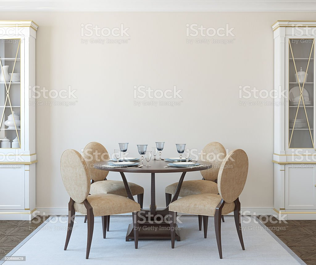 Dining-room interior. stock photo
