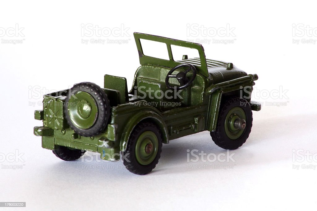 Dinky Toy jeep royalty-free stock photo