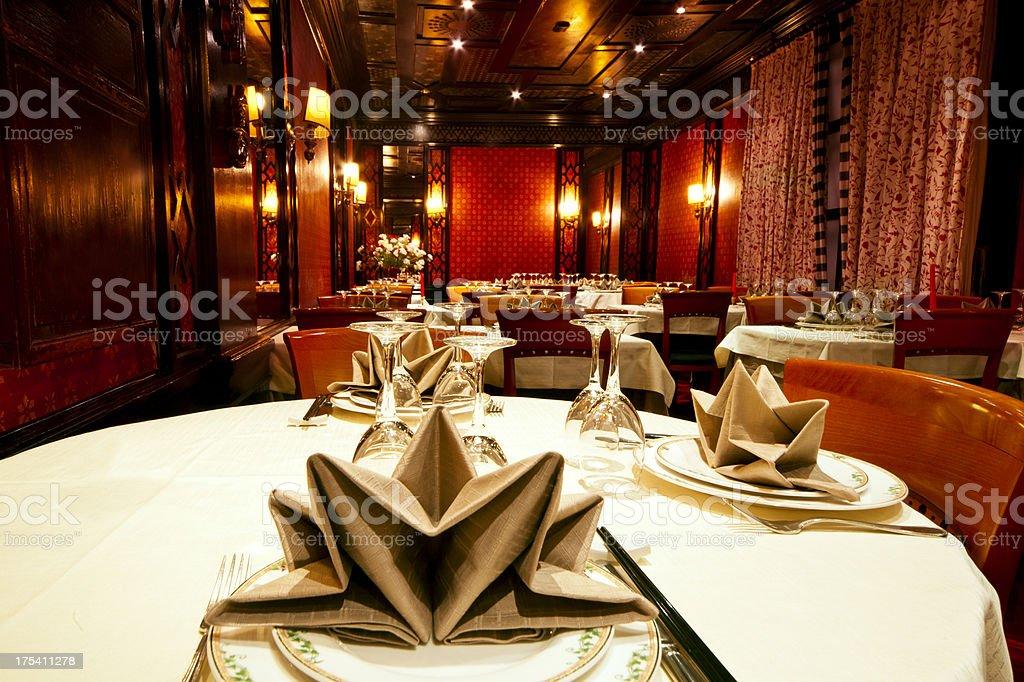 Dinner At Chinese Restaurant stock photo
