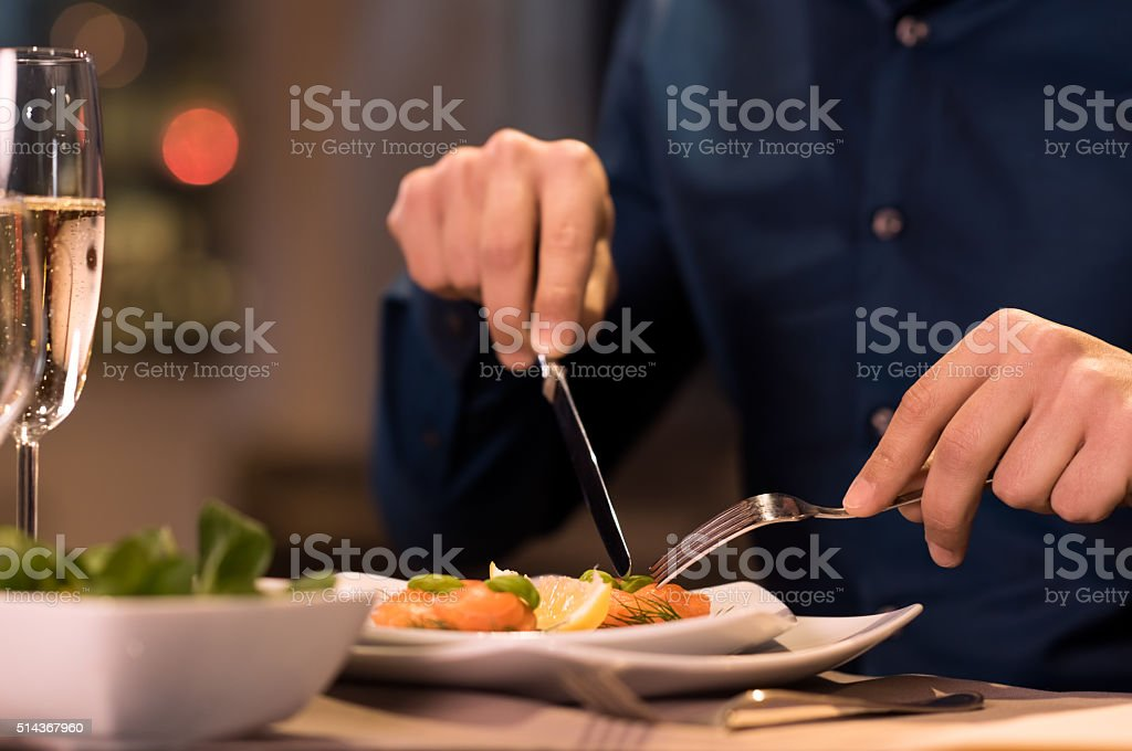 Dinner at restaurant stock photo