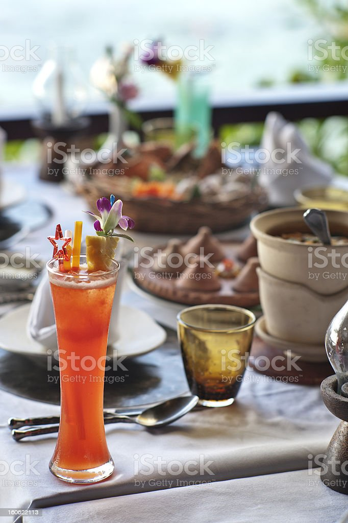 Dinner Cocktail stock photo