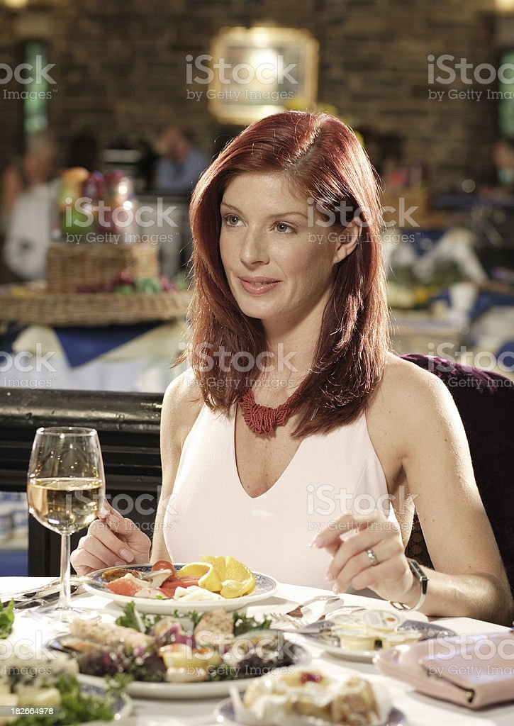 Dinner conversation royalty-free stock photo