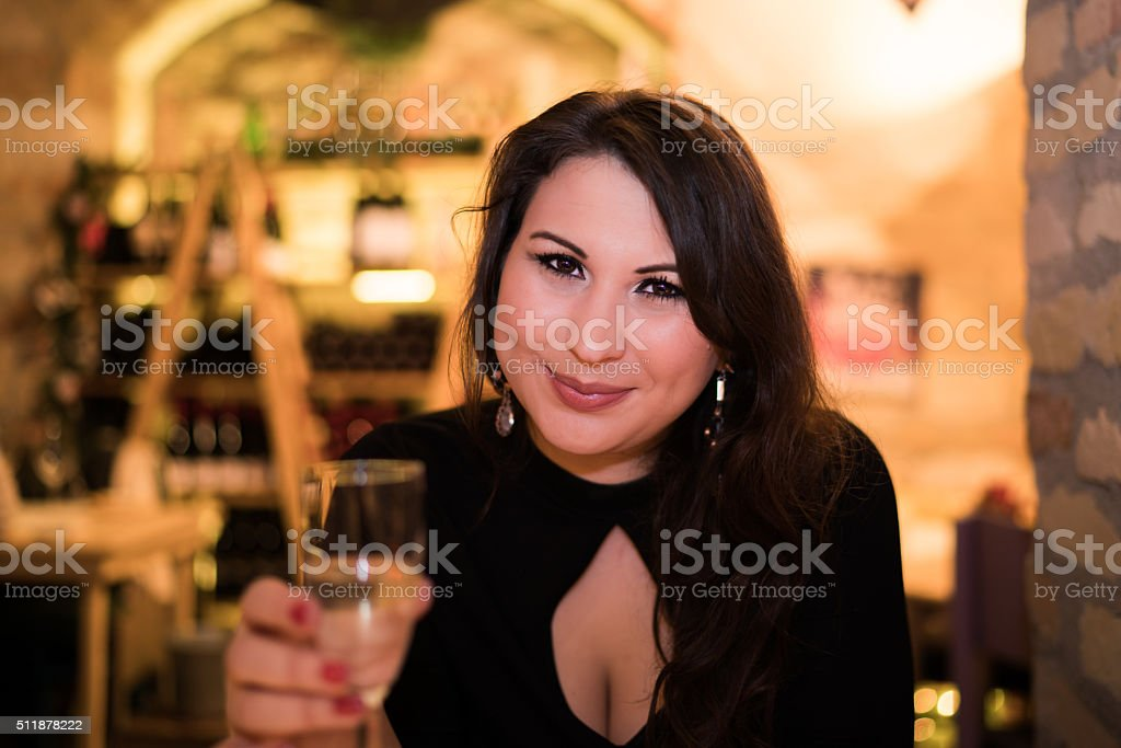 Dinner date Budapest stock photo
