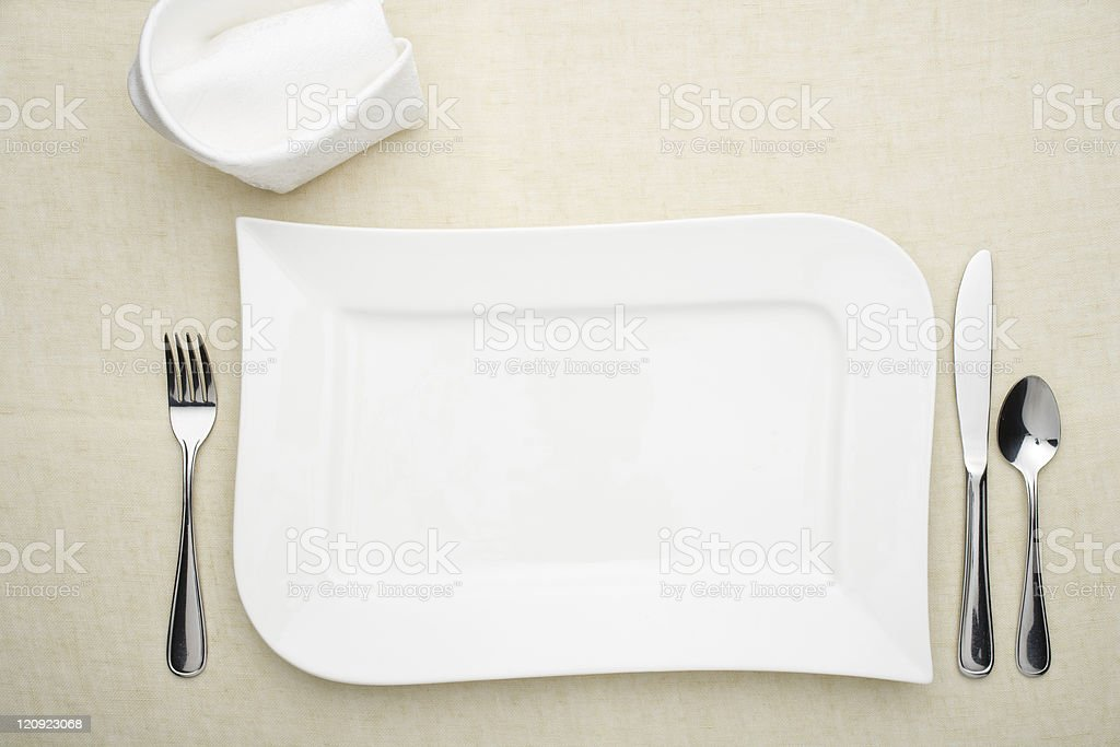 Dinner for one royalty-free stock photo