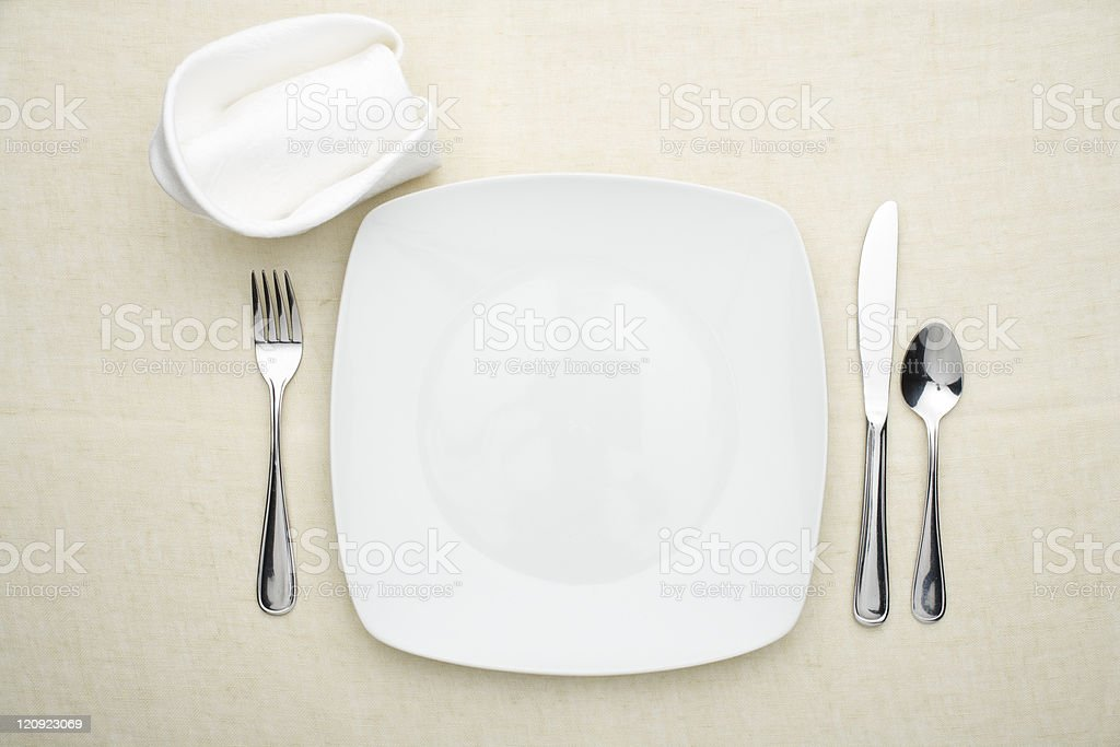 Dinner for one stock photo