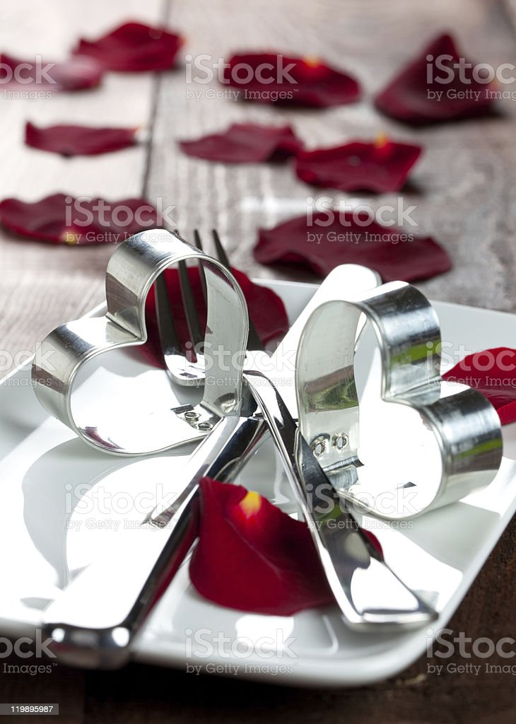 dinner for valentines day royalty-free stock photo