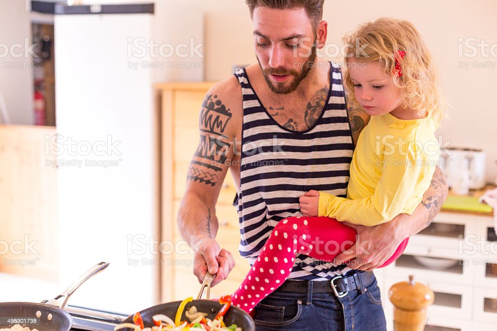 Dinner is almost ready! stock photo