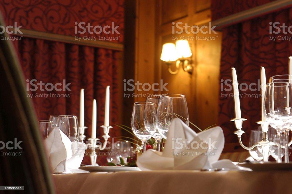 dinner isn't served stock photo
