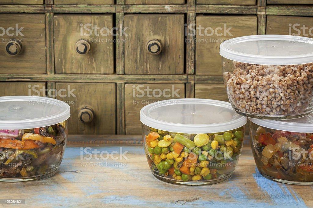 dinner leftovers stock photo