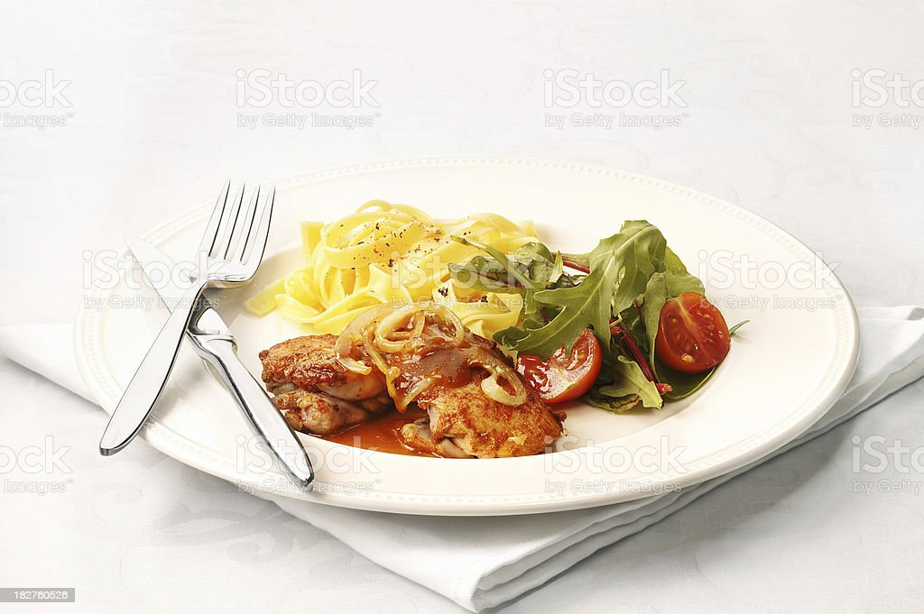 dinner on a plate royalty-free stock photo