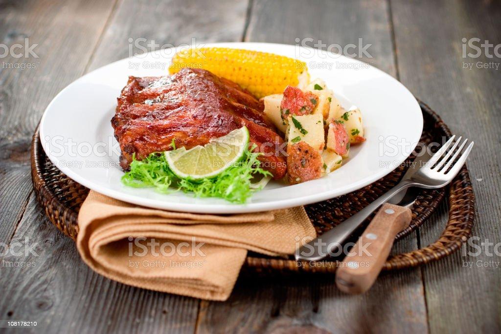 BBQ Dinner royalty-free stock photo