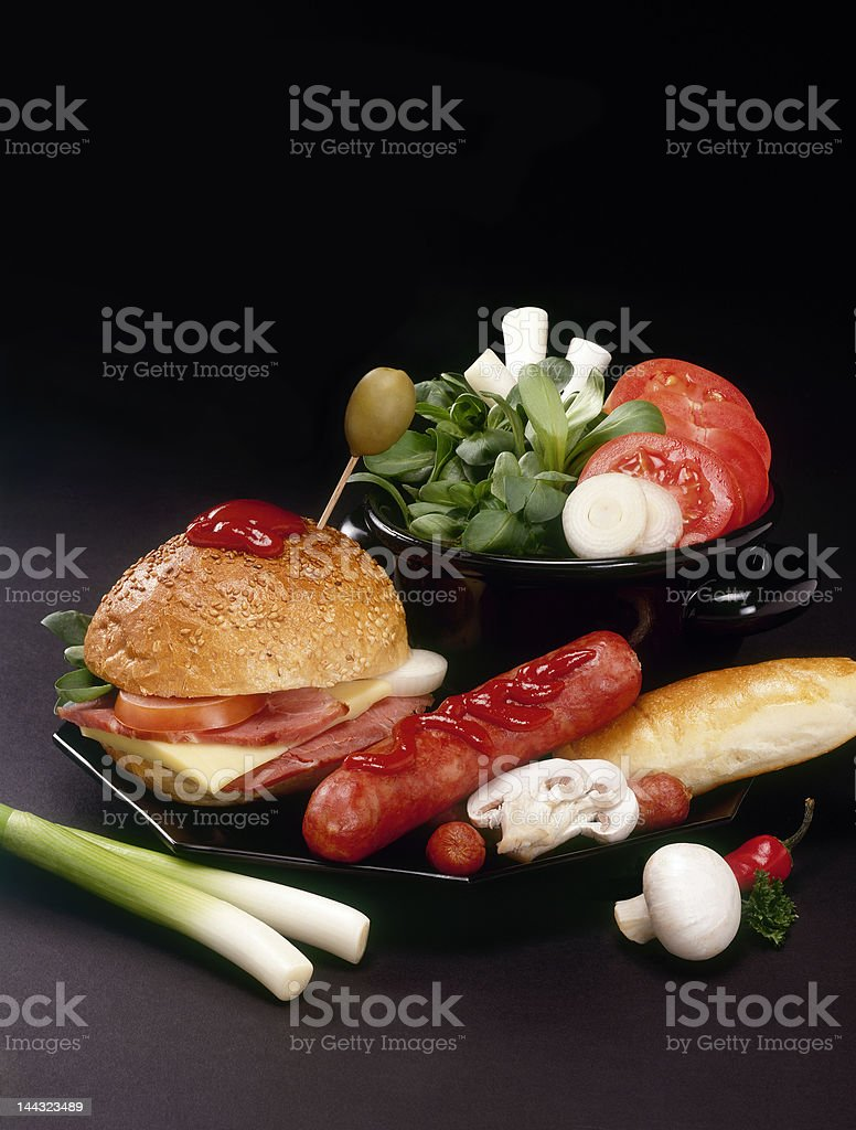 TV dinner royalty-free stock photo