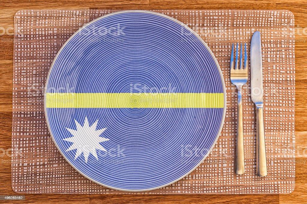 Dinner plate for Nauru stock photo