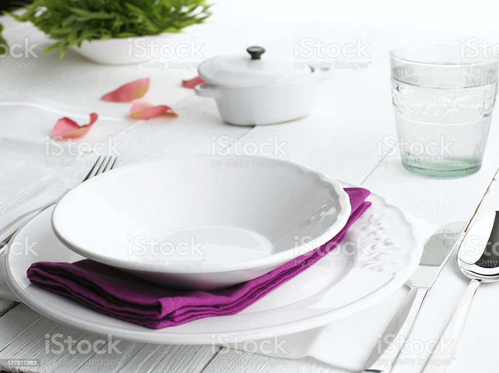 Dinner Plate Setting royalty-free stock photo