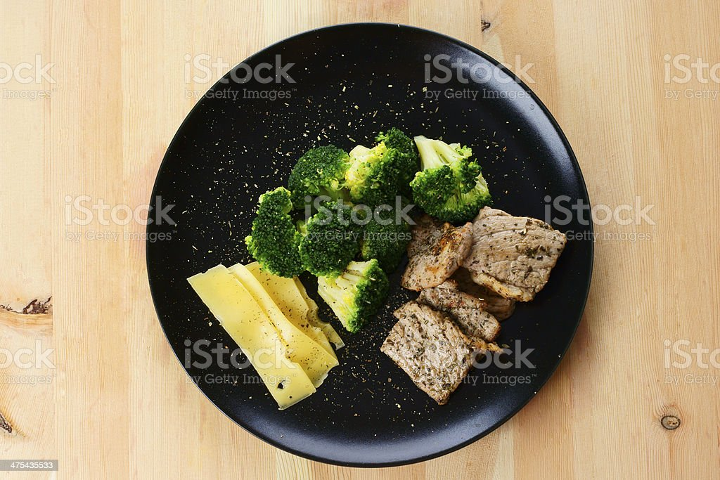 Dinner plate with a healthy food royalty-free stock photo