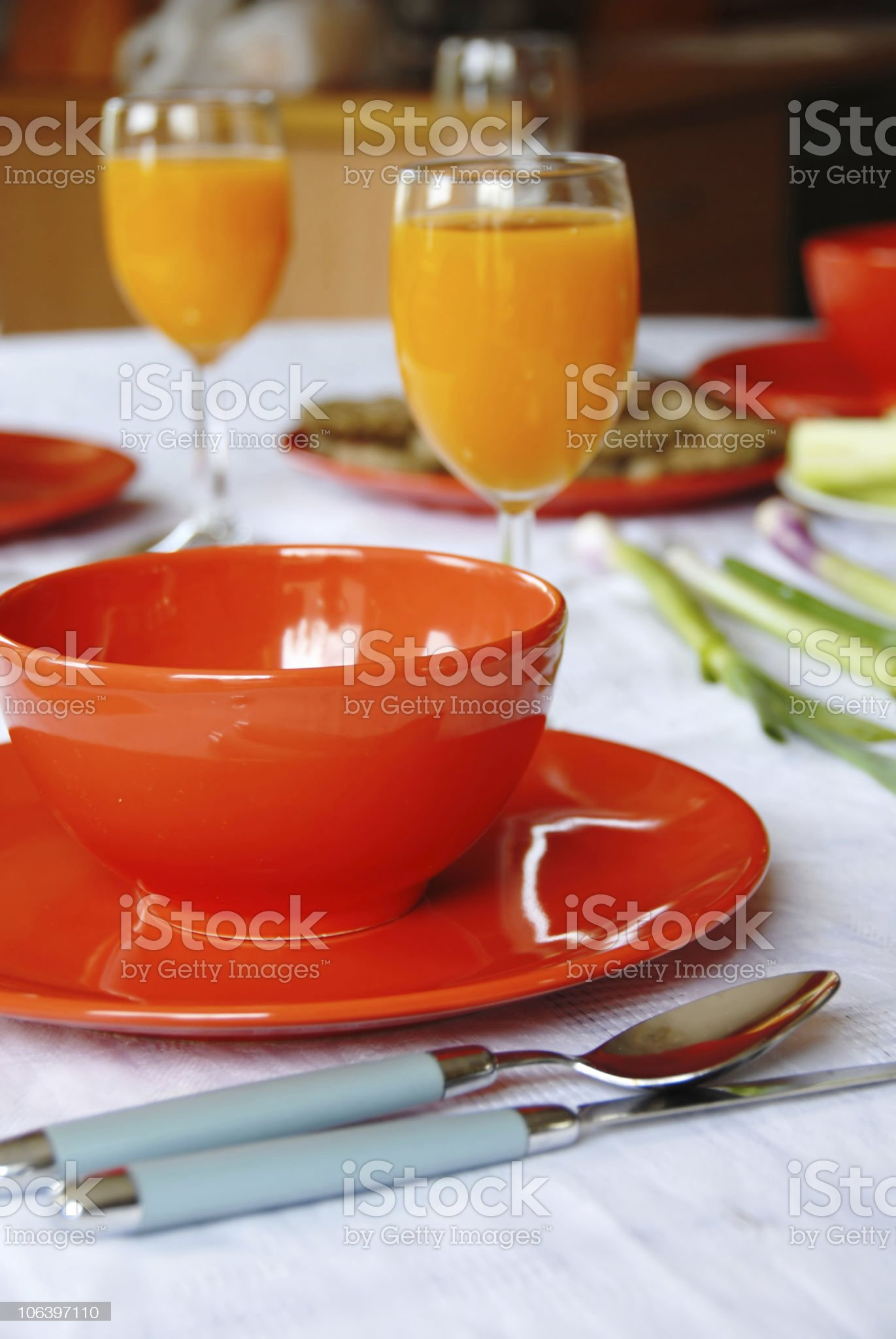 Dinner served royalty-free stock photo