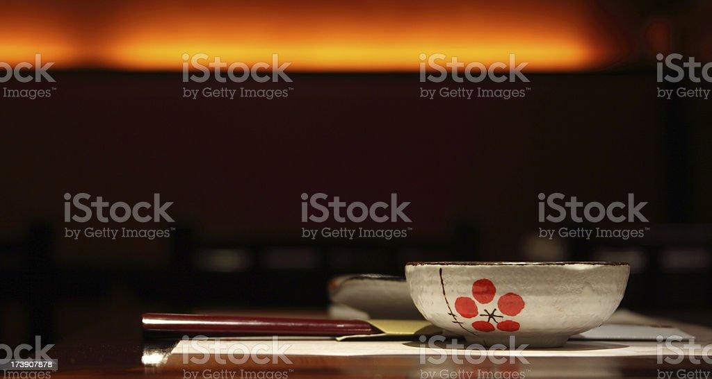 dinner set stock photo