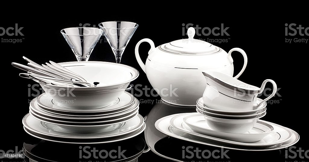 Dinner Set royalty-free stock photo