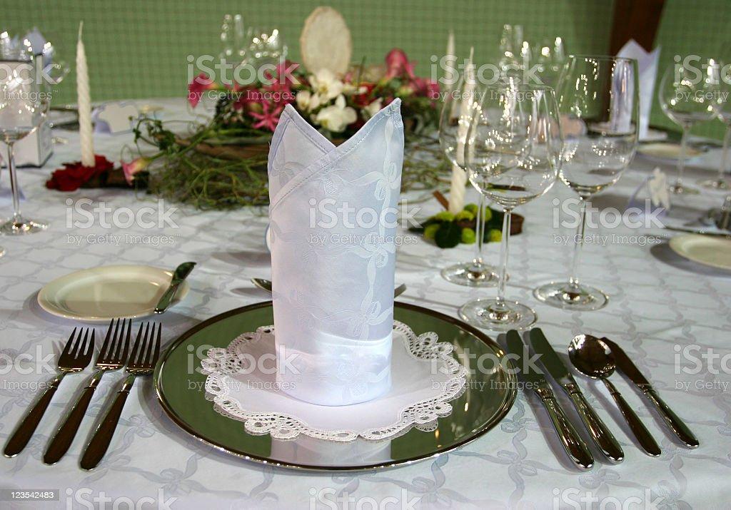 Dinner setting royalty-free stock photo