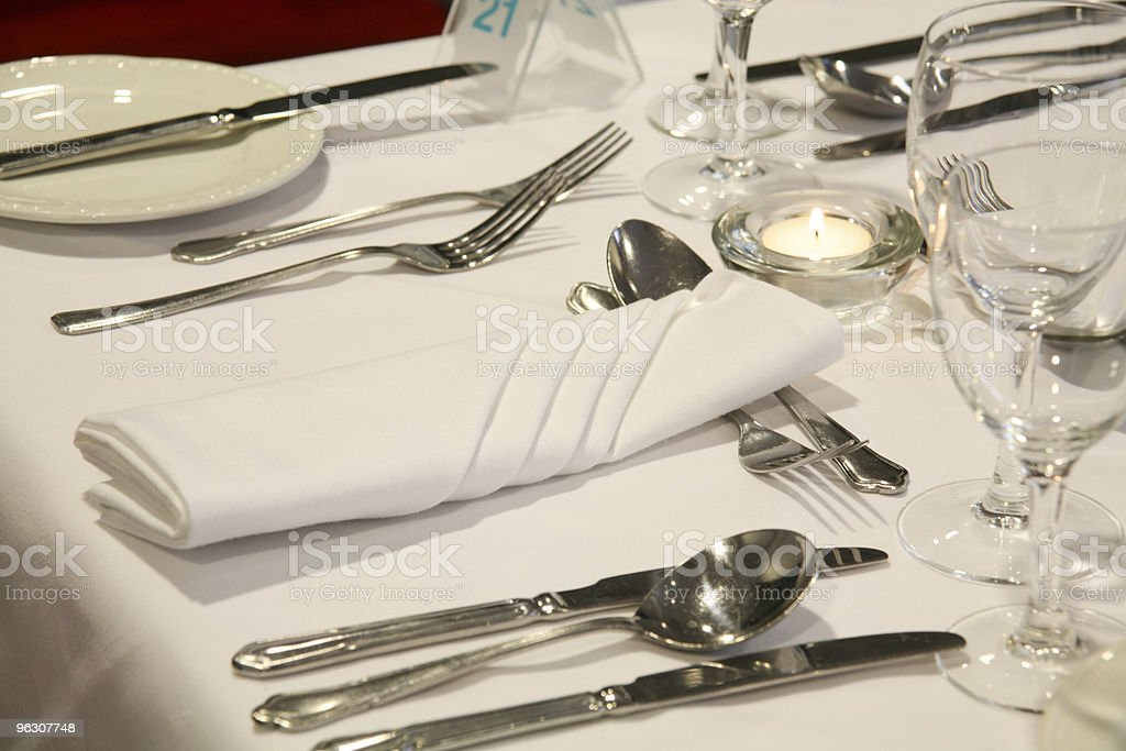 Dinner Setting royalty-free stock photo