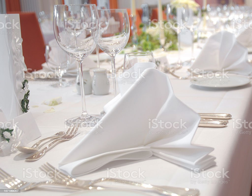 dinner table 2 royalty-free stock photo