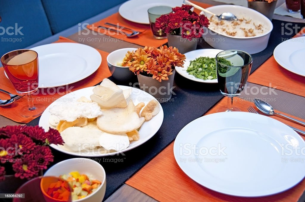 dinner table asian decoration royalty-free stock photo