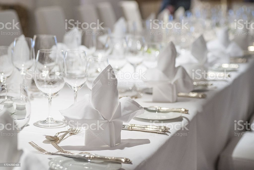 dinner table decoration on wedding - Festliche Tafel stock photo