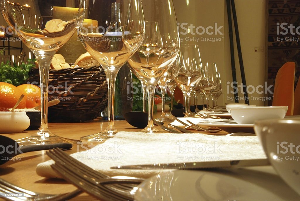 dinner table decoration ornament stock photo
