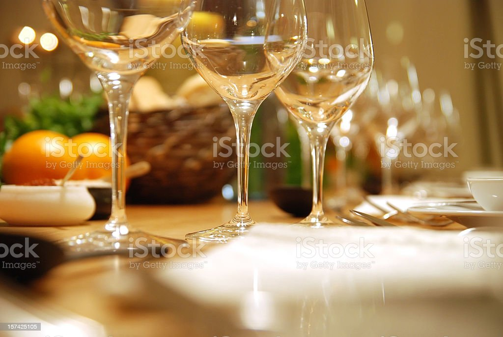 dinner table decoration stock photo